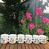 Винтаж handmade. Livemaster - original item Vintage cups Botanica Garden, Doverstone, England. Handmade.