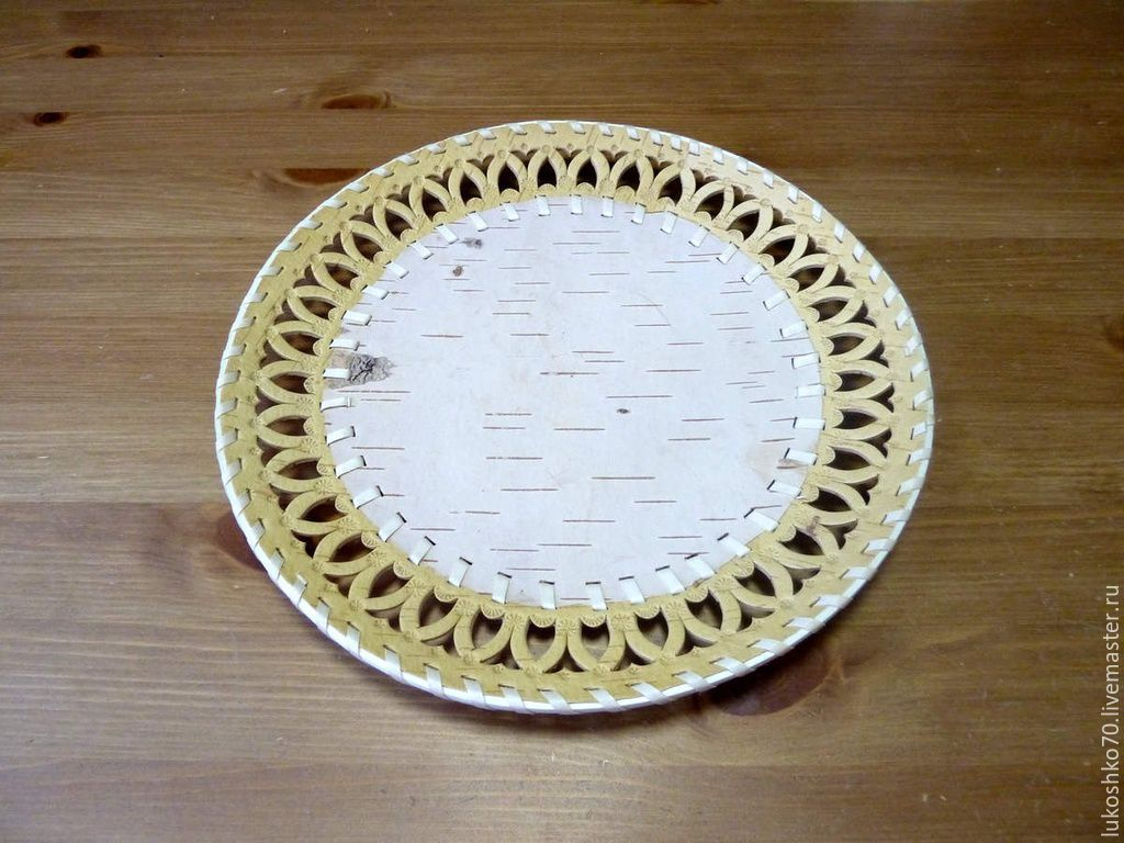 Birch bark plate for painting D26. Blank for painting, Utensils, Tomsk,  Фото №1