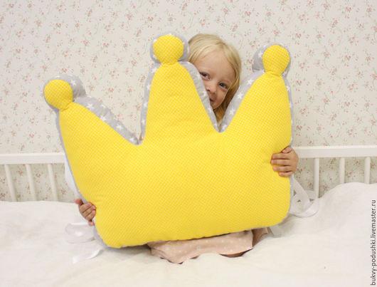 Детская ручной работы. Ярмарка Мастеров - ручная работа. Купить Подушка-корона. Handmade. Комбинированный, декоративная подушка, эслон