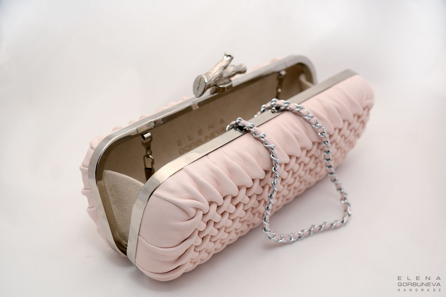 Leather clutch bag 'pink', Clutches, St. Petersburg,  Фото №1