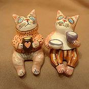 Для дома и интерьера handmade. Livemaster - original item Ceramic cats.