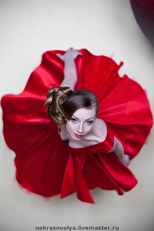 Платья ручной работы. Ярмарка Мастеров - ручная работа. Купить Красное коктейльное платье 'Мак'. Handmade. Выпускной, красное платье
