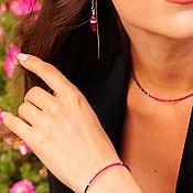 Украшения handmade. Livemaster - original item A bracelet made of beads: Red and Black Spinel Bracelet. Handmade.