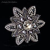 Украшения handmade. Livemaster - original item Swarovski crystal brooch and NAT.pearls