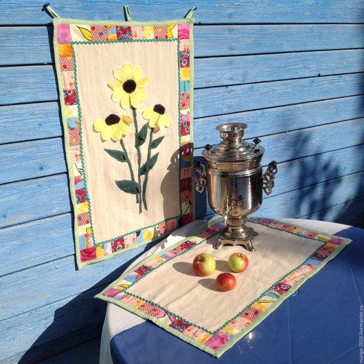 Кухня ручной работы. Ярмарка Мастеров - ручная работа. Купить Пано и салфетка (комплект доя кухни). Handmade. Кухонный декор