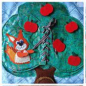"""Куклы и игрушки ручной работы. Ярмарка Мастеров - ручная работа Авторское развивающее панно """"В лесу"""". Handmade."""