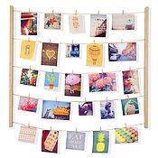 Картины и панно handmade. Livemaster - original item Panel with clips for 40 photos Hangit tree. Handmade.