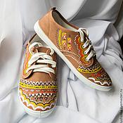 """Обувь ручной работы. Ярмарка Мастеров - ручная работа Кеды женские с росписью """"Этно"""". Handmade."""