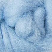 Материалы для творчества ручной работы. Ярмарка Мастеров - ручная работа Меринос 16 мк окрашенный - цвет Гортензия. Handmade.