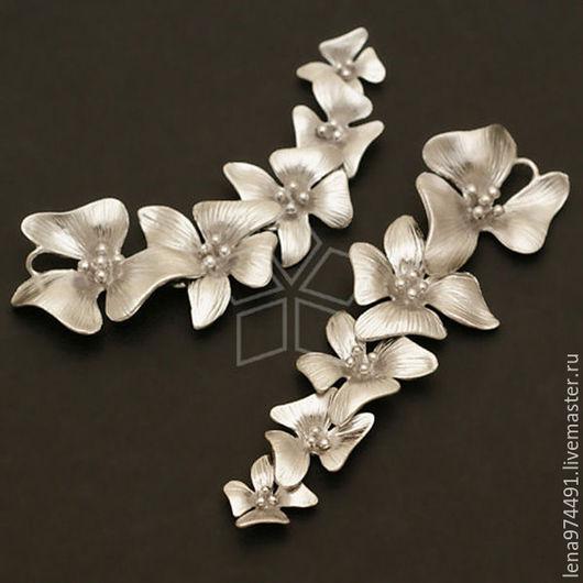 """Для украшений ручной работы. Ярмарка Мастеров - ручная работа. Купить Коннектор """" пять цветочков"""". Handmade."""