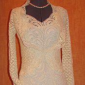 Одежда ручной работы. Ярмарка Мастеров - ручная работа Вязаный нарядный комплект платье и болеро. Handmade.