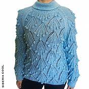 Одежда handmade. Livemaster - original item Sweater female Frosty grapes, hand-knitted, bumps, mohair. Handmade.