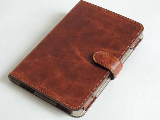 Сумки для ноутбуков ручной работы. Ярмарка Мастеров - ручная работа. Купить Обложка для PocketBook. Handmade. Чехол для планшета, натуральная кожа
