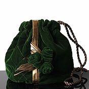Сумки и аксессуары handmade. Livemaster - original item Velvet evening bag, velvet bag, green. Handmade.