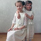 """Работы для детей, ручной работы. Ярмарка Мастеров - ручная работа Детское нарядное платье """" Моя сестра"""". Handmade."""