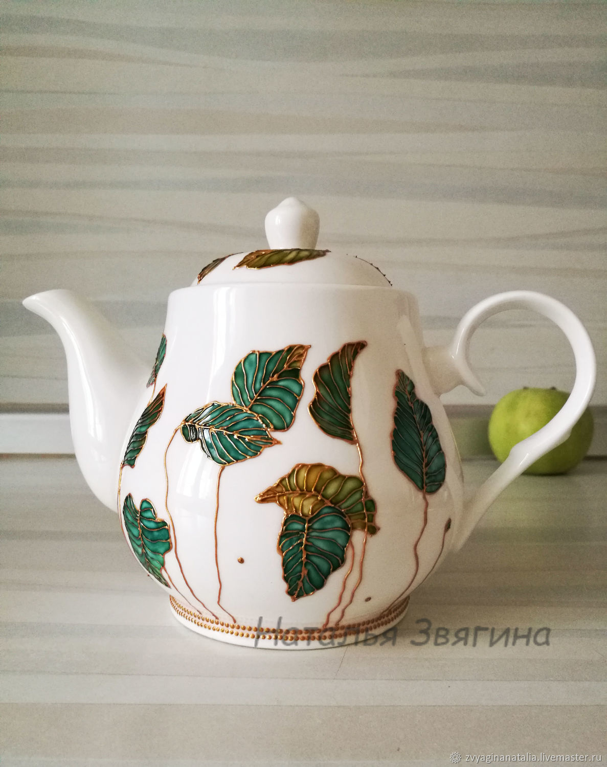 the tea pot. Hand painted. Gifts for women, Teapots & Kettles, Ekaterinburg,  Фото №1