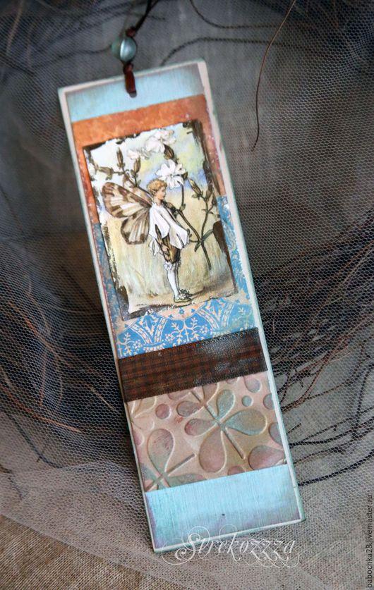 """Закладки для книг ручной работы. Ярмарка Мастеров - ручная работа. Купить Закладка из коллекции """"Мир маленьких фей""""(№3). Handmade. Голубой"""