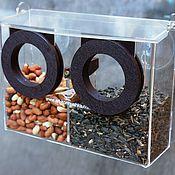 Для дома и интерьера handmade. Livemaster - original item Feeder on the window of wood and acrylic