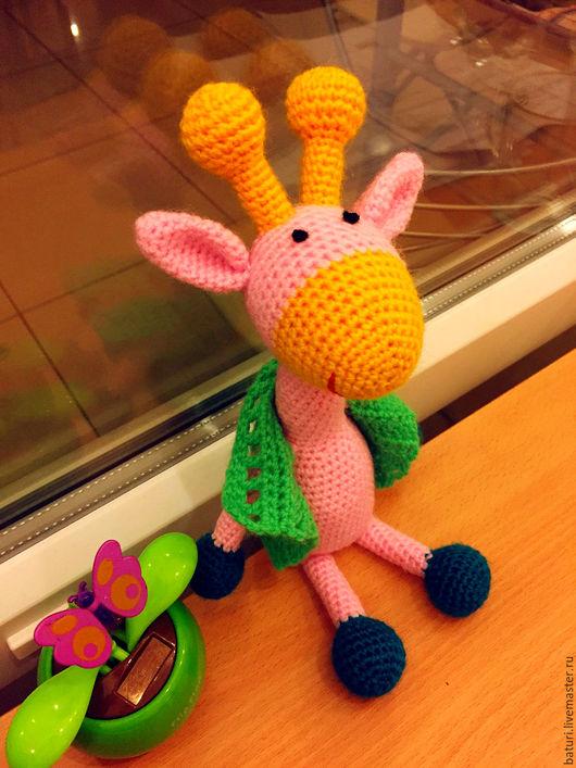 Игрушки животные, ручной работы. Ярмарка Мастеров - ручная работа. Купить Жирафик. Handmade. Бледно-розовый, игрушка, игрушка для детей
