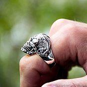 """Украшения handmade. Livemaster - original item Ring """"Skull with patterns"""" of silver 925 unisex. Handmade."""