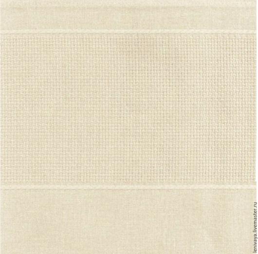 Натуральный цвет скатерти с полосой Аида 90 х 90 см хлопок 100%