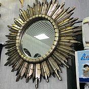 Для дома и интерьера ручной работы. Ярмарка Мастеров - ручная работа Зеркало-солнце. Handmade.