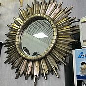 Для дома и интерьера handmade. Livemaster - original item mirror-the sun. Handmade.