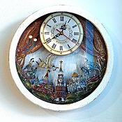 Для дома и интерьера handmade. Livemaster - original item Moscow original wall clock in wooden case. Handmade.