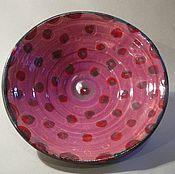 """Посуда ручной работы. Ярмарка Мастеров - ручная работа """"Вишни"""" ваза для фруктов и сладостей. Handmade."""