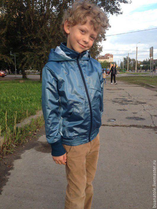 Одежда для мальчиков, ручной работы. Ярмарка Мастеров - ручная работа. Купить Куртка/Ветровка для мальчика.. Handmade. Морская волна, ветровка для мальчика