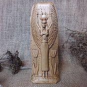 Для дома и интерьера handmade. Livemaster - original item Isis, Isis, ancient Egyptian goddess, wooden figurine. Handmade.