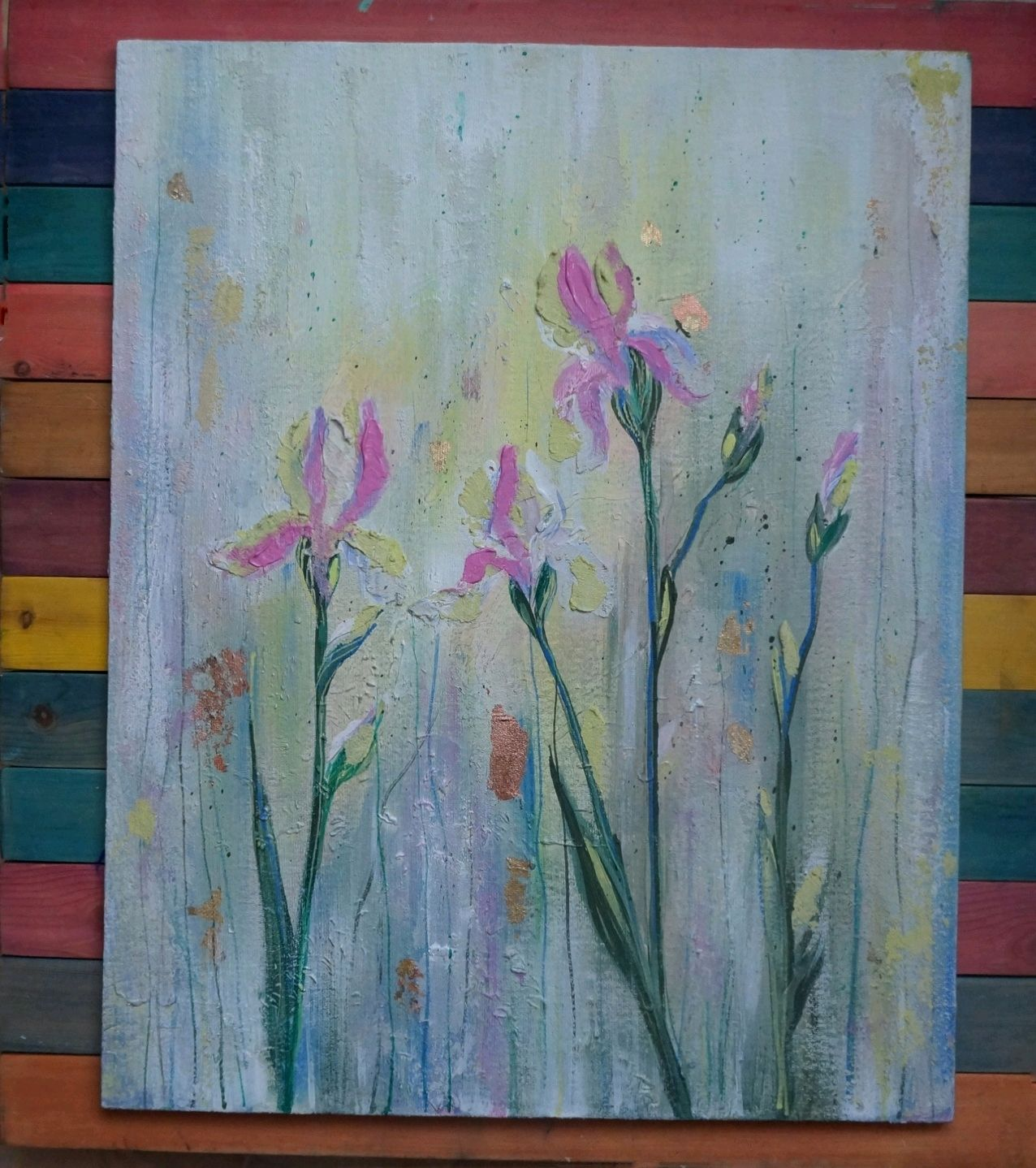Painting interior 'Gentle irises ', Pictures, Kemerovo,  Фото №1
