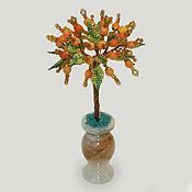 Цветы и флористика handmade. Livemaster - original item Yellow agate tree