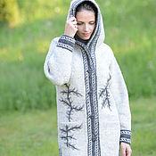 Одежда ручной работы. Ярмарка Мастеров - ручная работа Пальто вязаное 12wj30. Handmade.