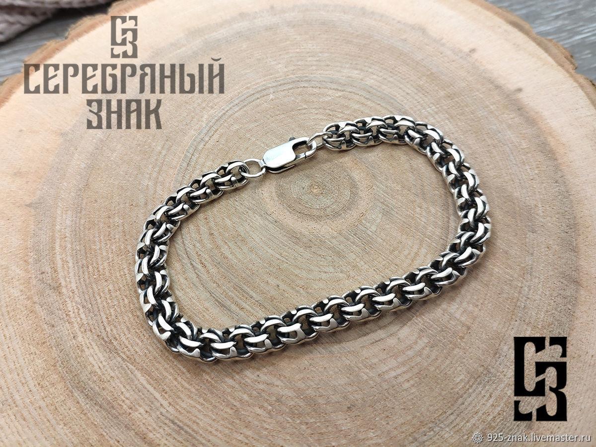 Bracelet Bismarck. 925 sterling silver weight about 20gr. art.One million ninety five thousand nine, Chain bracelet, St. Petersburg,  Фото №1