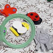 Куклы и игрушки ручной работы. Ярмарка Мастеров - ручная работа Пальчиковый театр. Жучки-паучки. Handmade.