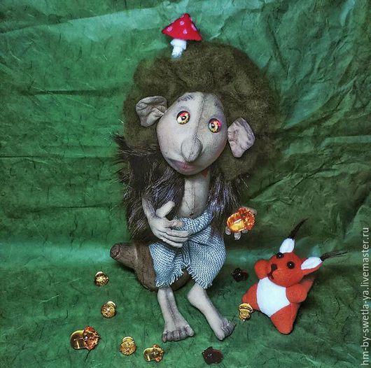 Ароматизированные куклы ручной работы. Ярмарка Мастеров - ручная работа. Купить Тролль. Handmade. Тролль, бязь, мех
