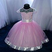 Работы для детей, ручной работы. Ярмарка Мастеров - ручная работа Платье  розовое на девочку 4-6 лет. Handmade.