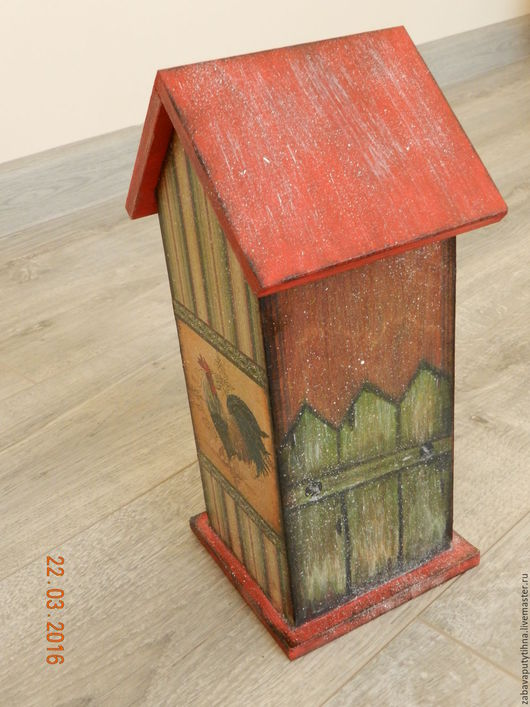 Кухня ручной работы. Ярмарка Мастеров - ручная работа. Купить Чайный домик. Handmade. Ярко-красный, чайный домик, кантри