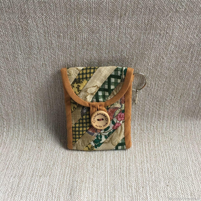 Брелок кошелек для монет лоскутный, Кошельки, Москва,  Фото №1