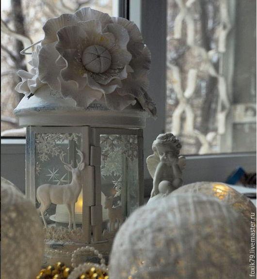 Освещение ручной работы. Ярмарка Мастеров - ручная работа. Купить Интерьерный фонарь. Handmade. Белый, подарок, 8 марта подарок