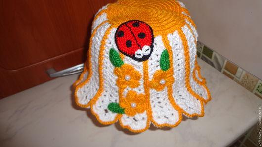 """Одежда для девочек, ручной работы. Ярмарка Мастеров - ручная работа. Купить Летняя шапочка для девочки""""Ромашка"""". Handmade. Панамка для девочки"""