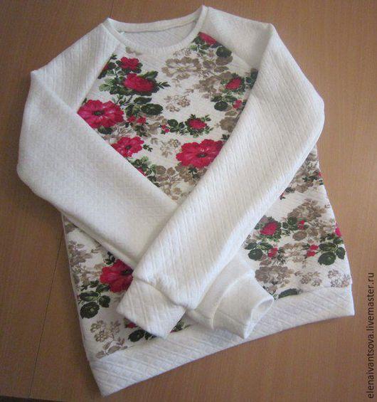 Кофты и свитера ручной работы. Ярмарка Мастеров - ручная работа. Купить Свитшот. Handmade. Белый, свитшот, свитшот на заказ