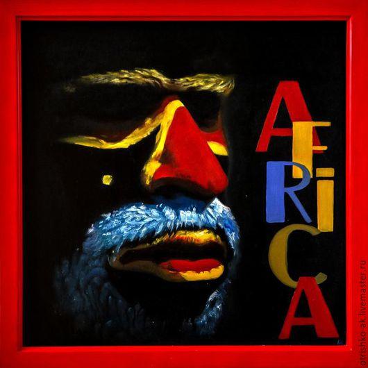 Этно ручной работы. Ярмарка Мастеров - ручная работа. Купить Картина маслом. Геометрия Африки. Handmade. Комбинированный, масло, стиль