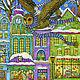 Фантазийные сюжеты ручной работы. Заказать Принт Волшебное зимнее путешествие маленького белого кота. Добрые акварели (yovin). Ярмарка Мастеров.