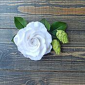 """Украшения ручной работы. Ярмарка Мастеров - ручная работа Брошь """"Белая роза"""". Handmade."""