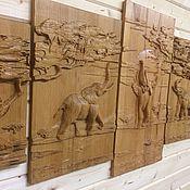 Картины и панно handmade. Livemaster - original item Elephants in the Savannah. Handmade.