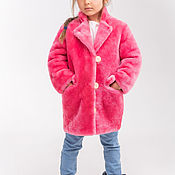 Работы для детей, handmade. Livemaster - original item Pink fur coat for girl. Handmade.