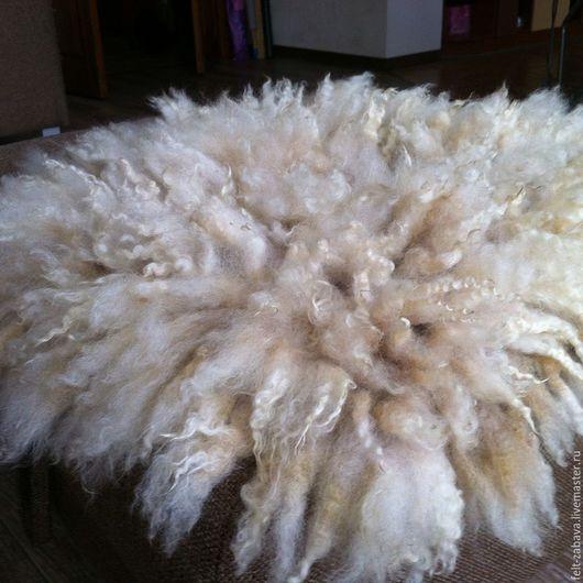 Текстиль, ковры ручной работы. Ярмарка Мастеров - ручная работа. Купить Валяный коврик, аксессуар для фотосессии. Handmade. Бежевый