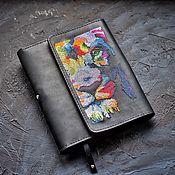 Ежедневники ручной работы. Ярмарка Мастеров - ручная работа Кожаная обложка-органайзер в стиле Pop-art Lion. Handmade.